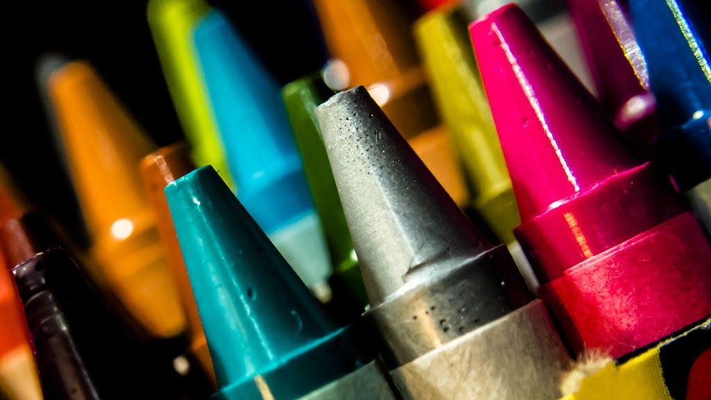 Image of crayons, edit your music website color