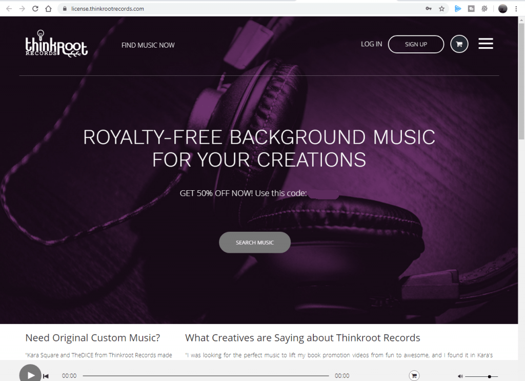 thinkroot records music library website